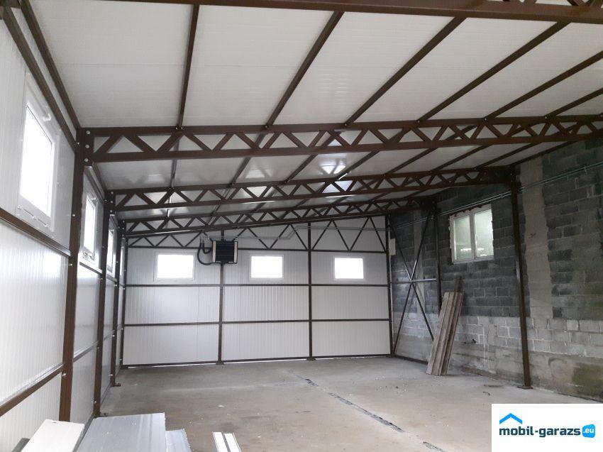 Könnyűszerkezetes garázs tervrajz